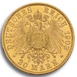 Goldmünze 20 MARK Wilhelm II - Anlagegold nach § 25 UstG mehrwertsteuerfrei