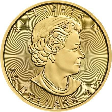 1 oz Maple Leaf Gold 999,9 nach § 25 UstG mehrwertsteuerfrei