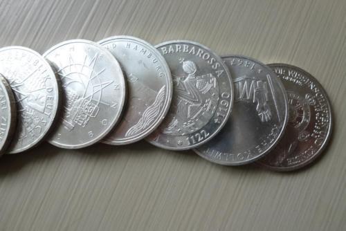250 er Paket 10 DM Münze 625 Silber Differenzbesteuerung nach § 25 a UstG