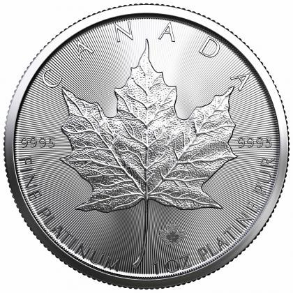 Platinmünze 1 oz - Maple Leaf oder abweichende zertifizierte Hersteller